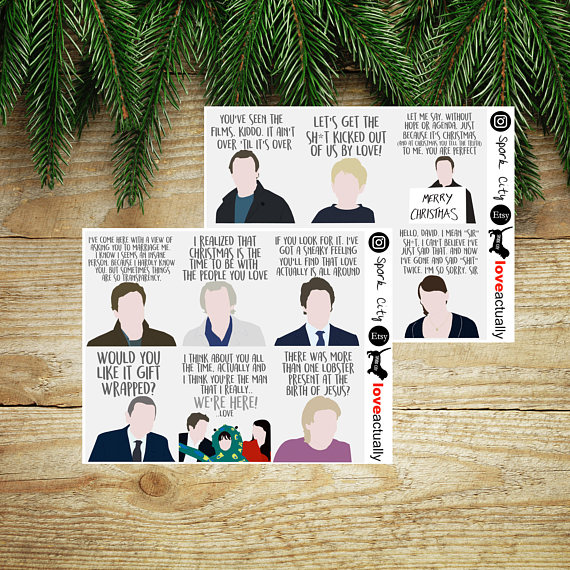 Love Actually Quote Planner Stickers U2013 Que Wendy And I Fighting About  Whether Or Not Love Actually Is A Christmas Movie. Unlike The Argument  About E.T. ...