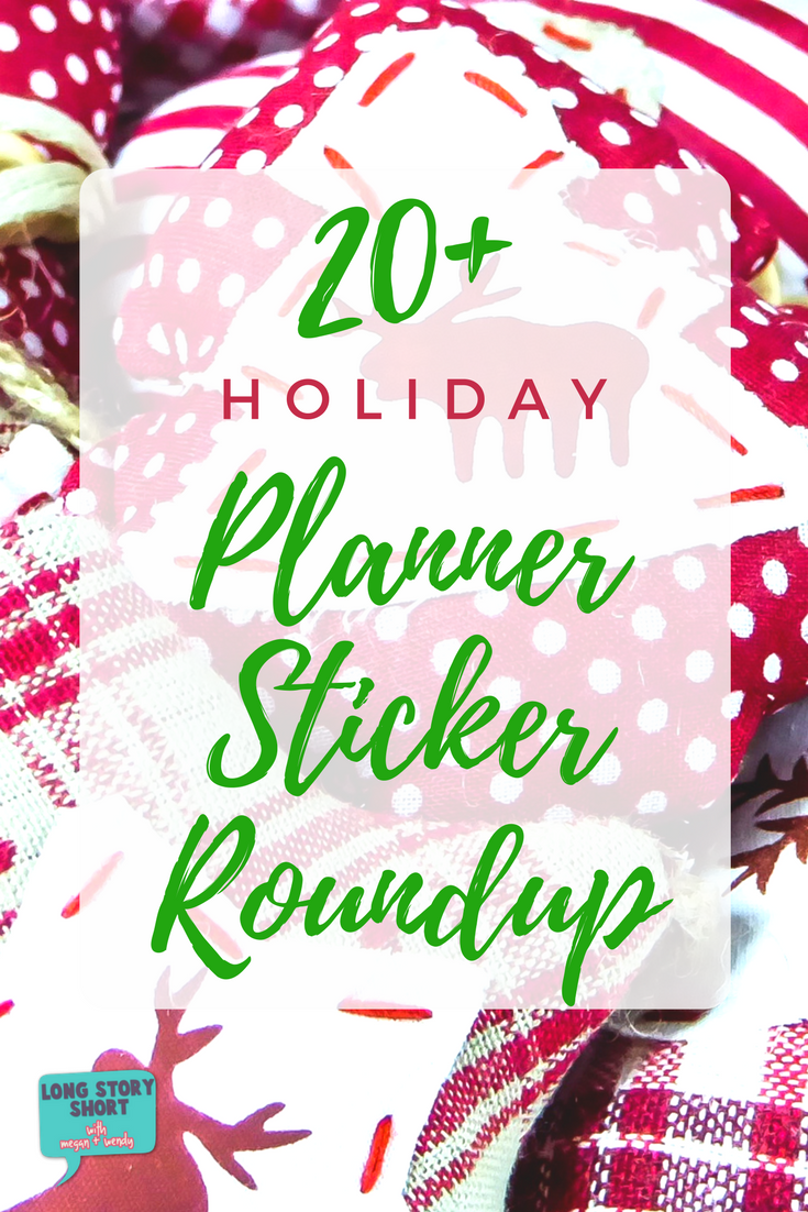 Do you love to decorate your planner as much as you love decorating your home during the holidays? We've rounded up 20+ adorable <a href=
