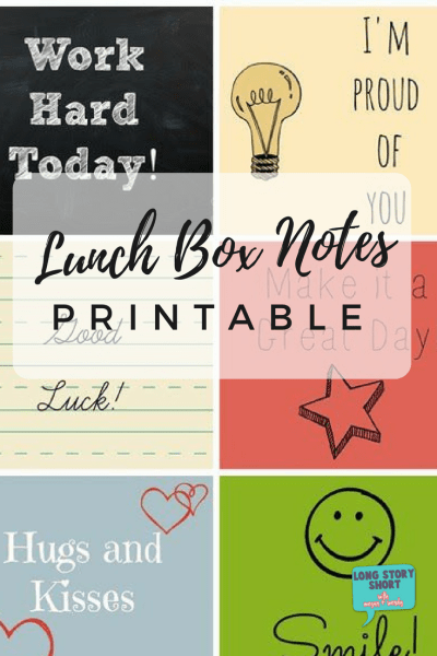 Lunch Box Notes Printable perfect for Back to School