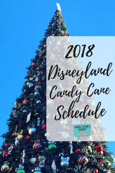 Disneyland Candy Canes 2018