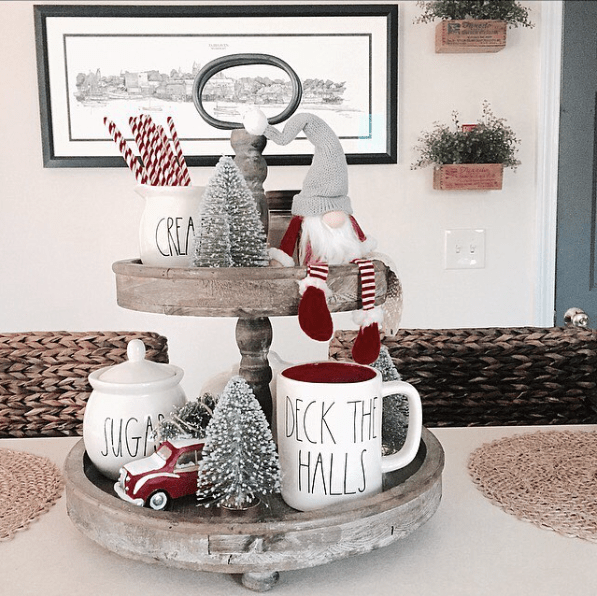 Looking for inspiration on how to display your Rae Dunn this holiday? Here's a round up of the most beautiful, favorite Rae Dunn Christmas displays.