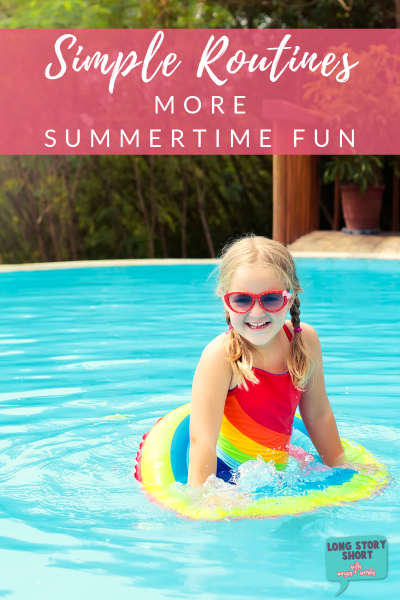 FUN MOM ALERT! We're sharing our simple routines for more summertime fun! Plus a FREE summer bucket list printable! | #summerfreebies #summerbucketlist #summerroutines