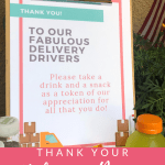 Free Delivery Driver Printable Sign