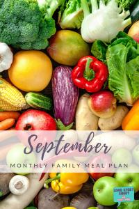 September Meal Plan