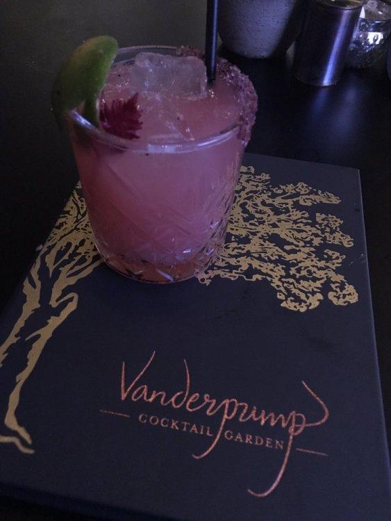 The Vanderpink Margarita I loved Vanderpump Cocktail Garden. Great drinks, excellent service. If you're a fan of Lisa Vanderpump, get thee to Caesars Palace now.   #lasvegas #travel #cocktails