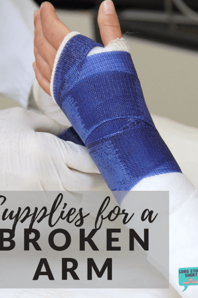 Supplies for a Broken Arm - If you've broken your arm and find yourself wondering how to do everything one-handed, we've got solutions from Amazon and Target that will make your life easier.
