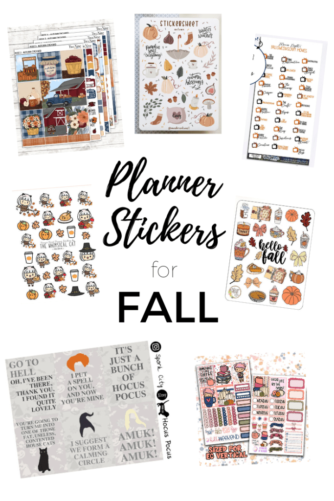 Planner Stickers for Fall - We've rounded up the cutest planner stickers currently available for you to decorate your paper planner. These stickers will work for Erin Condren, Happy Planners, Plum Paper Planners and your other favorite paper Planners
