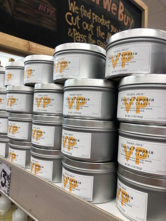 Trader Joe's Vanilla Pumpkin Candles