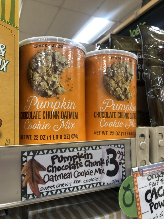 Trader Joe's Pumpkin Chocolate Chunk Cookie Mix