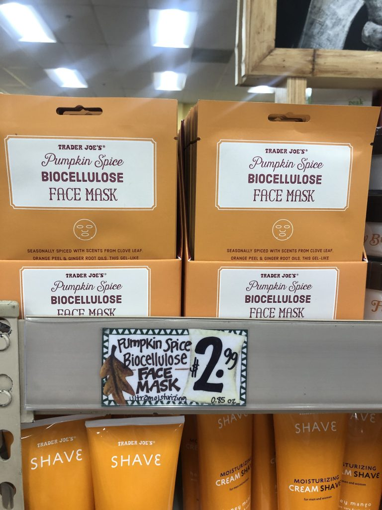 Are the pumpkin spice biocellulose face masks available at your Trader Joe's? We're having a hard time locating these for 2020!