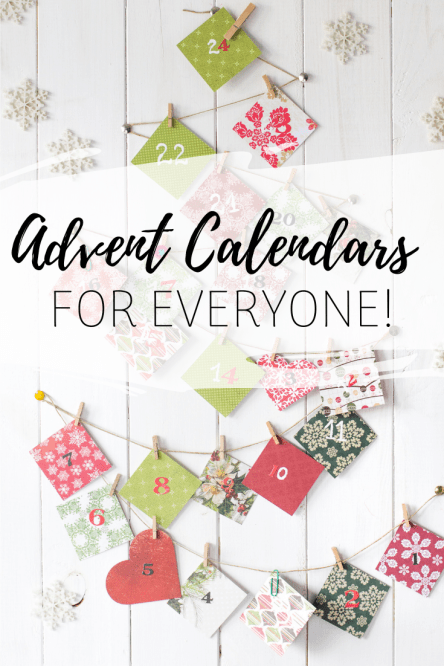 Advent Calendars for Everyone - We've got the best advent calendars for everyone in your home including calendars for planner loves, crafty folks, people who love candy, makeup junkies, and even your dog or cat!