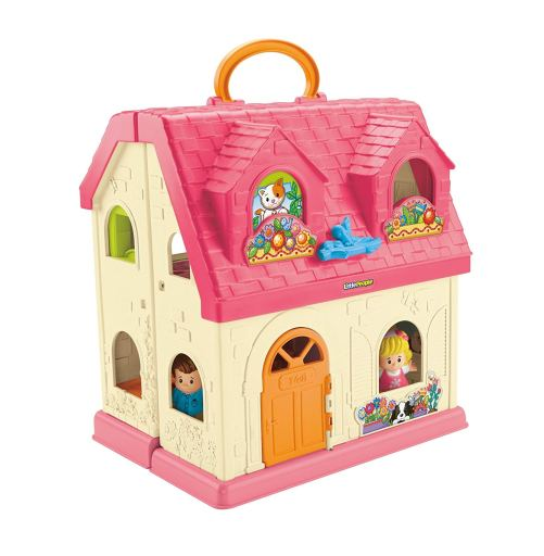 Fisher-Price Little People Surprise & Sounds Home is a 5-star-rated dollhouse on Amazon. Perfect dollhouse for toddlers.