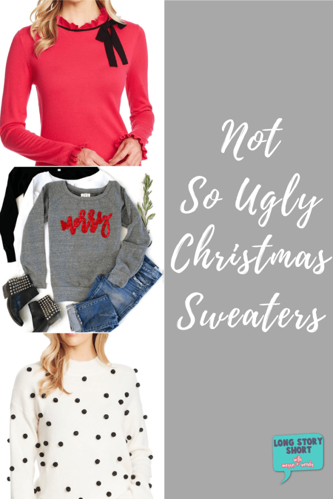 Over the ugly Christmas sweater trend? Here's some not so ugly Christmas sweaters. Some would even call them pretty. | #Christmas #HolidayWardrobe #UglyChristmasSweater