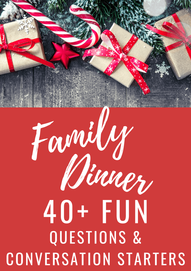 40+ family conversation starters perfect for those upcoming holiday dinners when the talk turns to weather or politics. | #familytime #holidays #family #conversationstarters