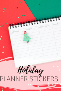 Holiday Planner Stickers for winter, Christmas, Hannukah and New Year's Eve - Deck your Erin Condren, Plum Paper or bullet journal out with these adorable holiday planner stickers that will help keep you organized.