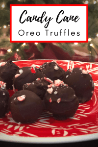 Peppermint Oreo Truffles - These candy cane oreo truffles are an easy holiday treat that would be a great neighbor gift or hostess gift