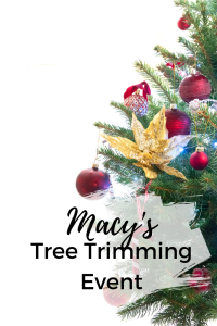 Macy's Tree Trimming Event