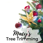 Macy's Holiday Tree Trimming Event