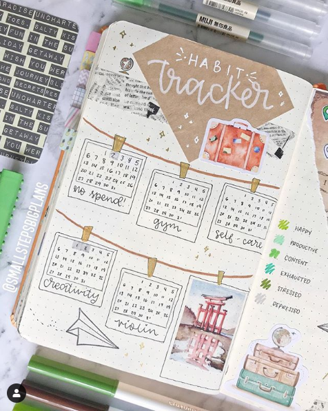 January is all about goals! Check out our favorite bullet journal covers and layouts for the month! #BUJO