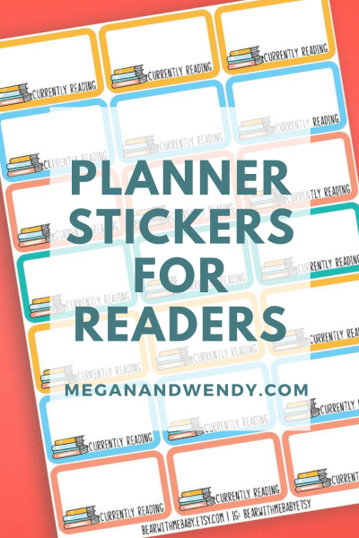 Planner Stickers for Readers - Bookworms and book lovers alike will love these stickers for your paper planner to mark book clubs dates, what you're currently reading, when you finished a book, book ratings, library trips and more. Of course there are also waterproof vinyl stickers to share your book nerd status on your water bottle or laptop.