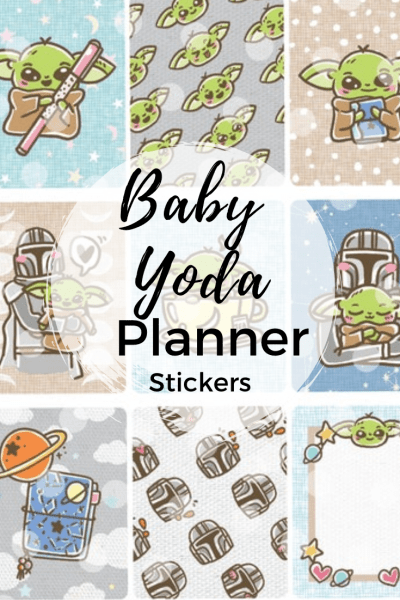 Baby Yoda Planner Stickers - Decorate your planner or bullet journal with the cutest little yoda around.