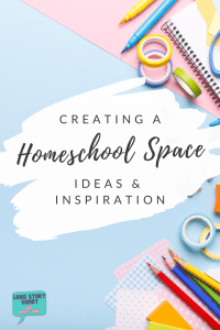 Stumped when creating a homeschool space? We're sharing ideas and inspiration for setting up a home school space for kids. Where to turn small spaces into classrooms, how to organize your classroom space and decorating ideas!   #homeschool #distancelearning