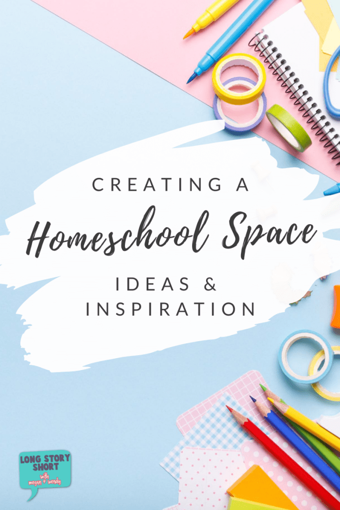 Don't let creating a homeschool space overwhelm you! We are sharing some great ideas on how to set up a home school room for your kids this school year. Doesn't matter if they are in kindergarten or high school. Get inspired to create a special space for your kids.