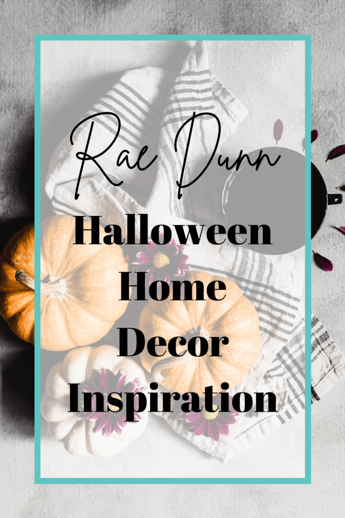 Looking for inspiration on how to display your Rae Dunn Halloween pottery? We're sharing 10+ spooky and cute Halloween displays, including what to do with Rae Dunn and a tiered tray and coffee bar looks.