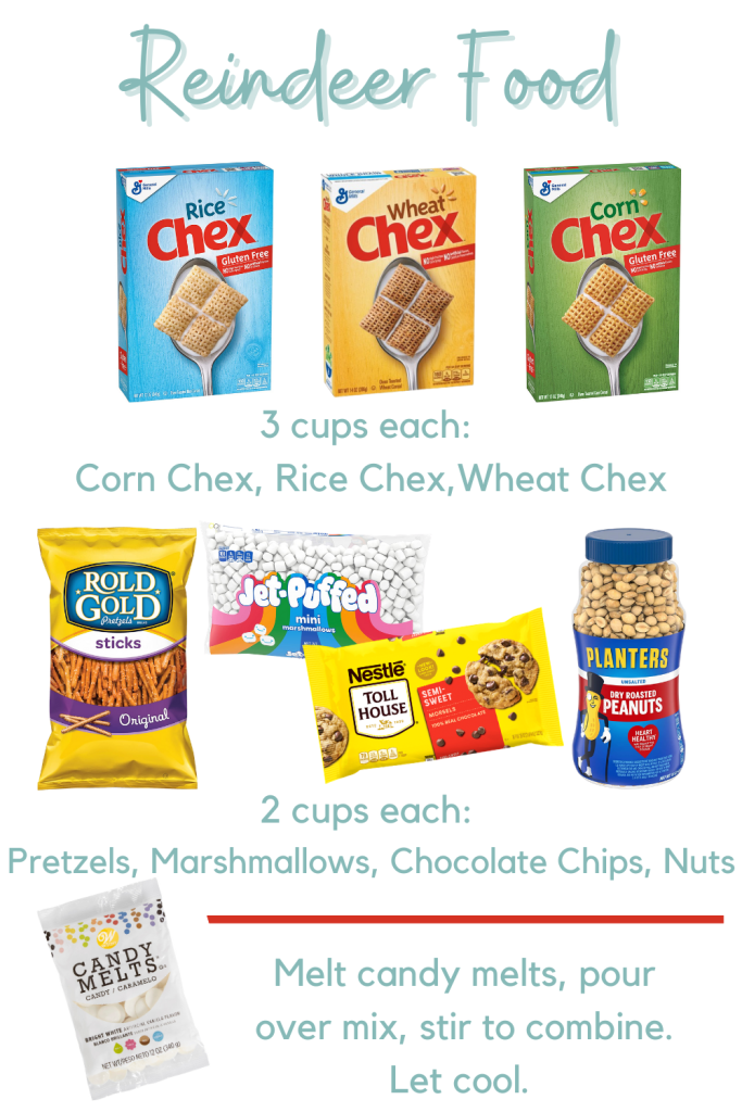 Reindeer Food - Sweet and Salty Chex Mix. A perfect Christmas treat for parties and snacking at home!