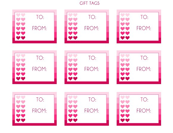 These blank stickers from catchmyparty.com can be printed onto sticky sticker paper and slapped on anything as a valentine.