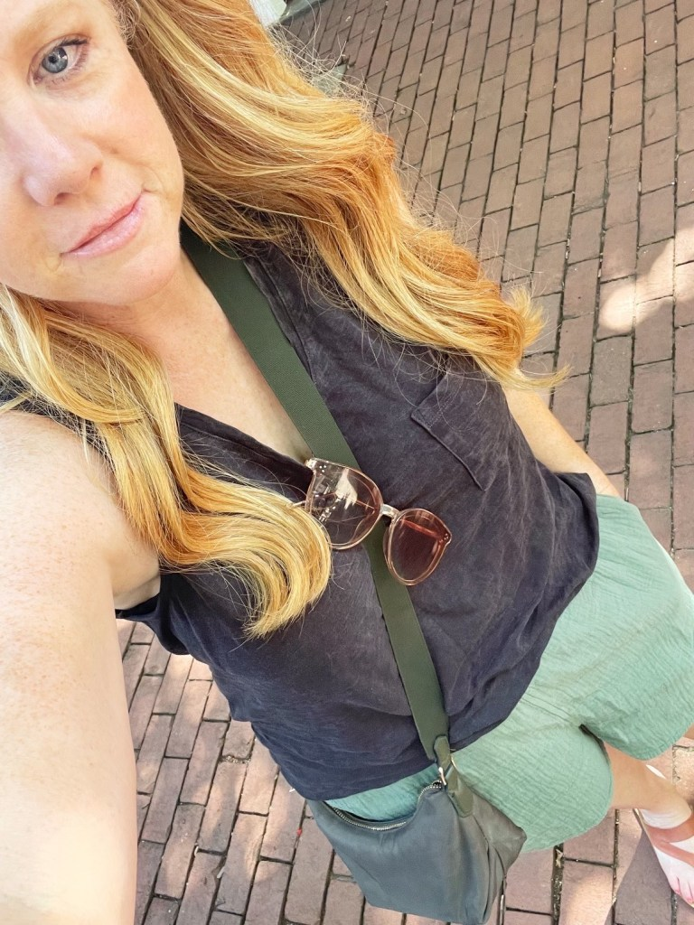 PODCAST: Vacation Highs and Lows. Megan's personal MVP of the trip was this A New Day crossbody bag from Target. Big enough to fit the essentials but small enough meeting many bag size limitations on her road trip.