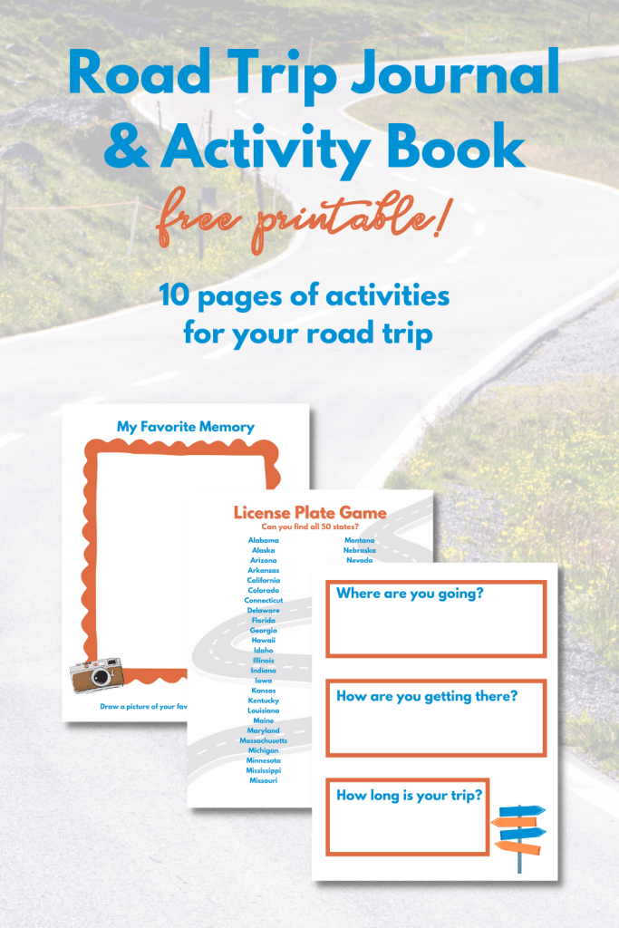 Road Trip Journal and Activity Book - FREE PRINTABLE!