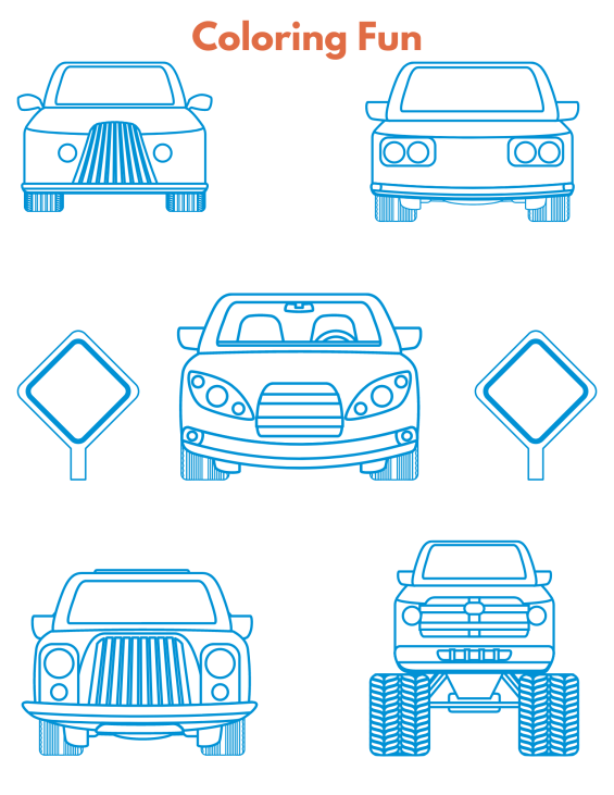 Road Trip Coloring Page