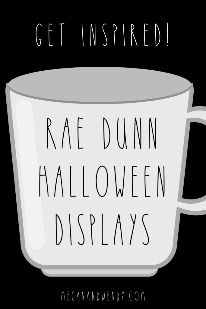 Want to dress up your coffee bar or your tiered tray this Halloween? Look no further, we're sharing our favorite Rae Dunn Halloween displays for 2021! #RaeDunn #RDHalloween