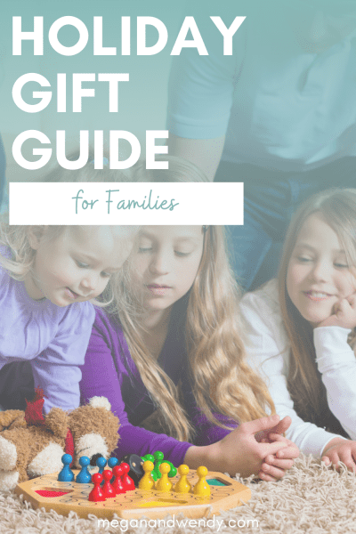 We're sharing a ton of great gift ideas for families. Everything from yard games, food subscriptions, custom portraits, personalized gifts and more! #FamilyGifts #GiftGuides
