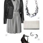 Edgy And Chic Grey Dress And Biker Jacket Megan Auman