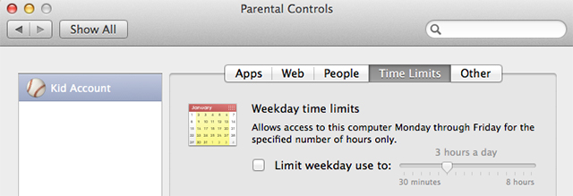 Parental controls