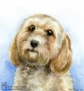 Georgie in watercolor