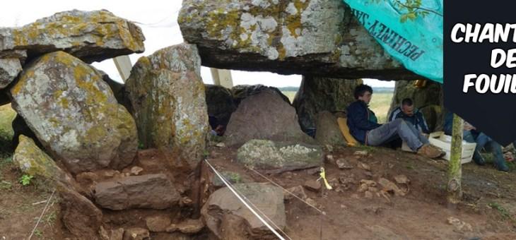 Fouille du dolmen de Chantebrault IV à Saint-Laon (Vienne)
