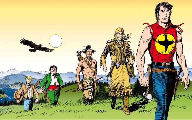 Zagor, personaggio creato da Sergio Bonelli nel 1961, in un disegno di Gallieno Ferri