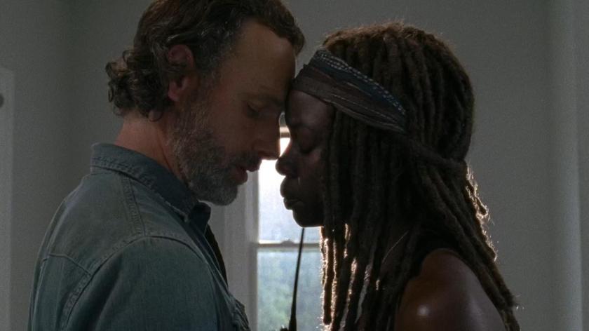 Rick (Andrew Lincoln) e Michonne (Danai Gurira)