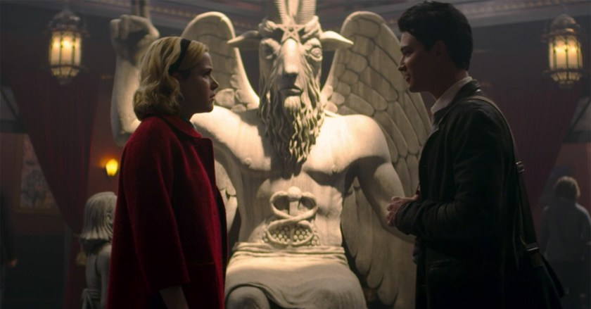 satanic temple statue chilling adventures of sabrina Credit: Netflix