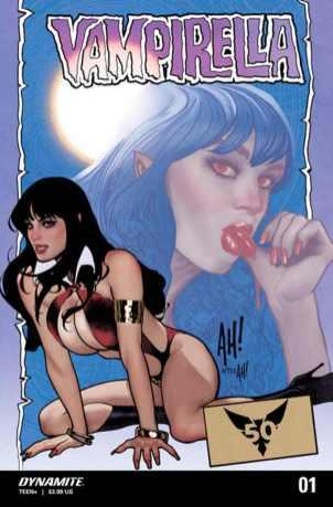 Vampirella #1, variant cover di Adam Hughes