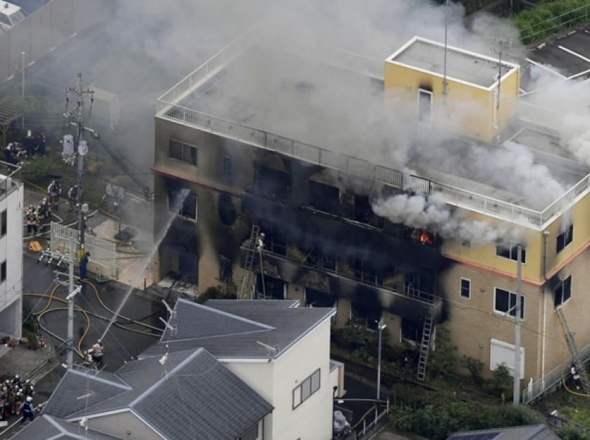 Kyoto Animation – Uomo dà fuoco agli studios, 24 morti e molti dispersi