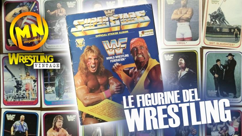 copertina wrestling vintage figurine del wrestling