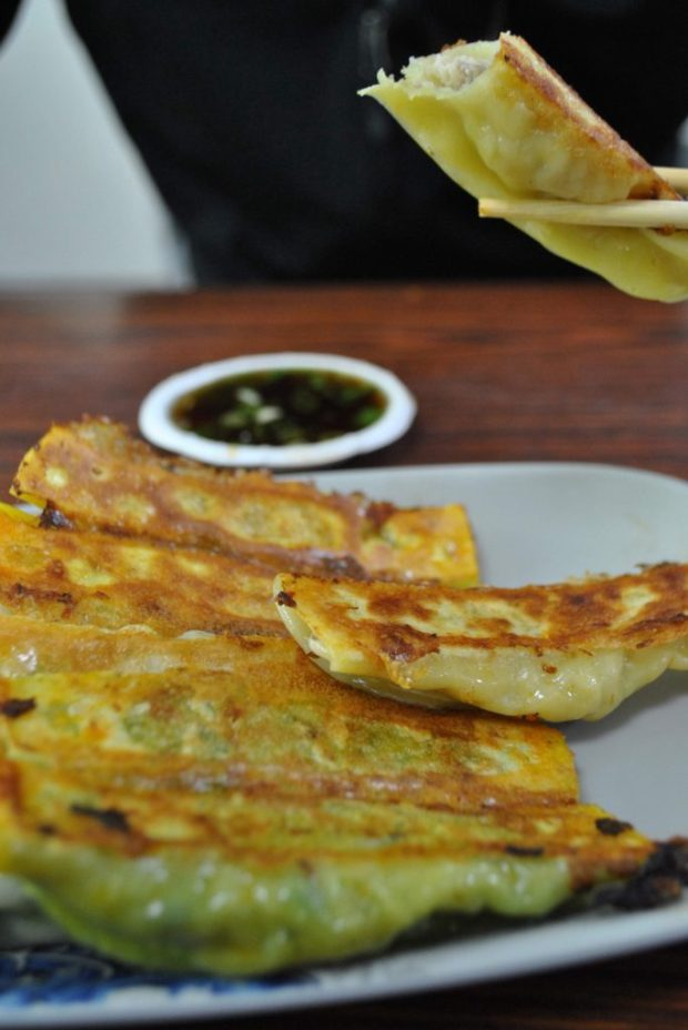Potstickers, you can order a single one or a hundred. I probably ate a hundred during my stay in Hualien. The curry variety was particularly tasty. You mix the dipping sauce to your liking, from a large condiment tray on wheels in the centre of the restaurant.