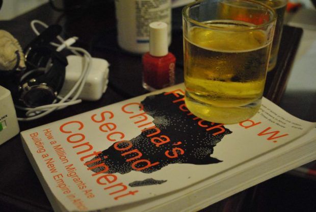 About as hectic as things got. Beer, bed, book.