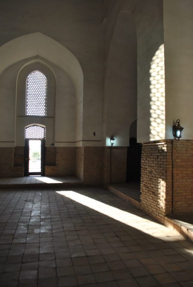 The magic light in the Mausoleum of Khoja Ahmed Yasawi, Turkestan. Both Shimkent and Turkestan offered me a lovely and brief stay amidst shade, glorious shade!
