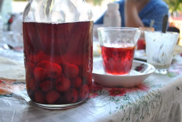 Cherry compote, a sweet juicy homebrew, makes everything better.