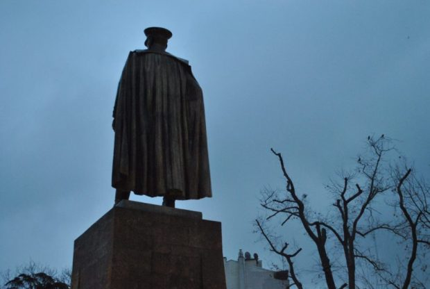 Ataturk and gloom, icons of a wet and mild Black Sea coast winter passing through many nationalist and traditional areas.